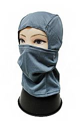 Solid Colored Mesh Fabric Face and Neck Covering Sky Mask