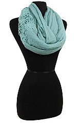 Lace Soft Infinity Scarves