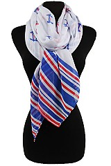 Anchor Pattern & Stripy ends Scarves