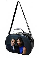 Obama Family Printed PU Leather Cosmetic Case
