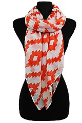 Geometric Soft Scarves & Wraps