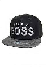 Like A Boss Fashion Matte Leather Street Wear Snap Back