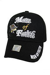 Man Of Faith Religious Design Baseball Cap