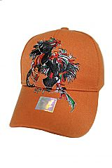 Cock Fight Rodeo Stitched Baseball Cap