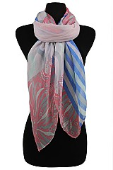 Floral & Stripe Design Scarves & Wraps