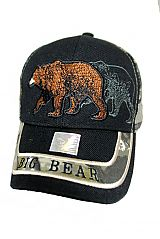 Grizzly Big Bear wildlife Outdoor Baseball Cap