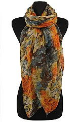 Marbled Design Pattern Scarves & Wraps