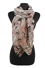 Natural Leaves Design Softness Scarf