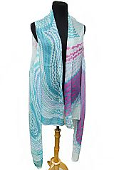 Scribbled Chevron Vibrant Colorful Kimono Vest Top