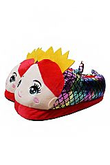Princess Mermaid Designed Fluffy and Soft Junior and Teenage Sized Slippers