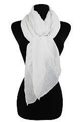 Plain Softness with Shimmer Accent  Scarf
