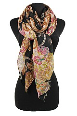 Flower design Softness Scarf