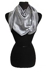 Itty Rose Double Sided Faux Silk Touched Scarves