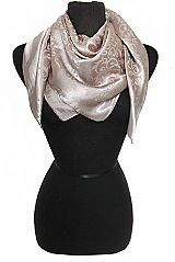 Vine yard Print Double Sided Faux Silk Touched Scarves