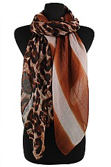 Striped & Animal Pattern Colorful Scarves & Wraps