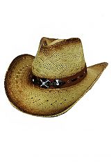 Diamond Encrusted Gunmetal Hardware Decor Cowboy Hat