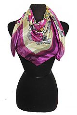 Blossoms Print Chiffon Silk printed Hanky Scarves