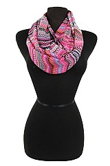 Multi color Chevron infinity scarf
