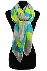 Chevron Multi Color Scarves & Wraps