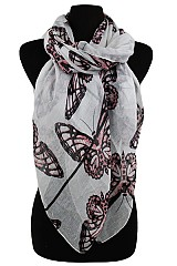 Colorful Monarch Pattern Scarves & Wraps