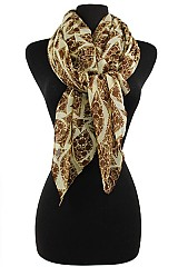 Floral Leaf Pattern Soft Scarves & Wraps