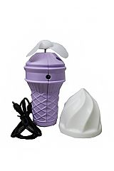 Soft Ice Cream Cone Designed Hand Held Electric Fan with USB 2.0 for Charging
