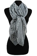 Floral Pattern Soft Scarves & Wraps