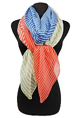 Color Block Stripe Big Size Scarf