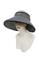Striped Roll Up Visor Sun Hat