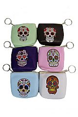 Sugar Skull Collection Zip Up Coin Purse Bag