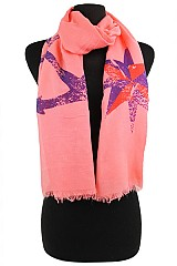 Anchor & Star Pattern Super Soft Scarves & Wraps
