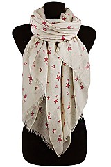 Little Star Pattern Soft Gauze Scarves & Wraps