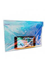 Beauty Pouch Iridescent Hologram Clear PVC Envelope Clutch