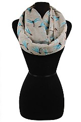 Dragon Fly Pattern Super Soft Infinity Scarves