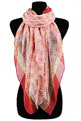 Diamond Colorfully Pattern Soft Scarves & Wraps
