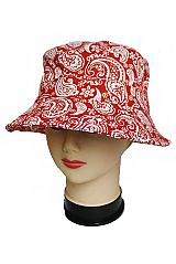 Unisex Cotton All Over Paisley Printed Cotton Bucket Hats