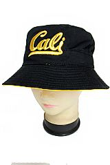 Cali Cursive With Shimmer Threading Cotton Bucket Hat