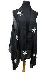 Starfish Embroidered Soft Blended Custom Vest Cover Up