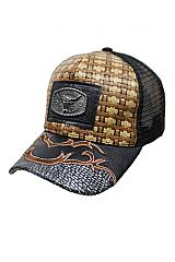Longhorn Straw Baseball Rodeo Cap