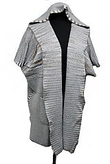 Native Design Super Softness Thick Angora Feel with Hoodie and Pocket Long Sleeveless Poncho Style