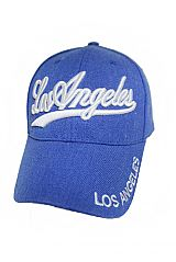 Los Angeles Washed Denim Pigmented California Baseball Caps