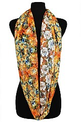Floral Pattern on Lace Fabric Infinity scarves