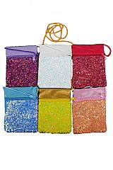 Glittered Small Faux Leather Cross Body Pouch