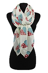 Heart American Flag Design Softness Scarf