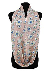 Daisy Floral with fringe Softness Scarf
