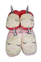 Unicorn Designed Faux Fur All Around Slippers