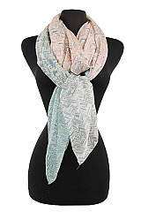 Chevron Design Softness Scarf