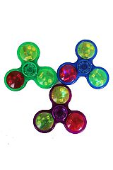 Trio Colored Glittered Light Up Fidget Spinners