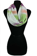 Color Block Soft Infinity Scarves