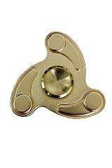 Tri Edged Curved Cut Metal Hand Fidget Spinner